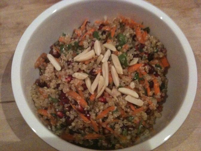 La salade de Quinoa aux parfums du Maghreb de Miss Papila