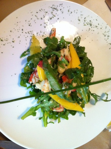 Salade de homard, asperges