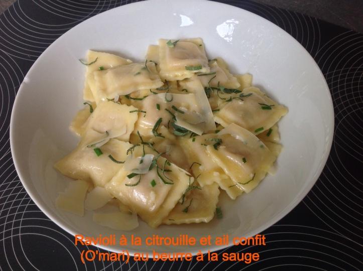 ravioli beurre de sauge