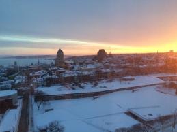 La vue de ma chambre le matin au Delta!