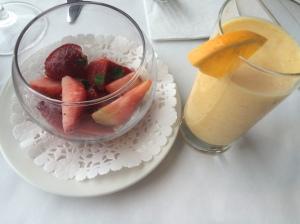 fraises et smoothie