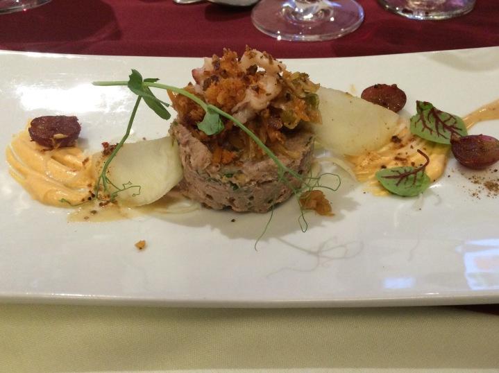 Gala de la société des chefs, cuisiniers et pâtissiers, région Lanaudière, Plat de William Mallette