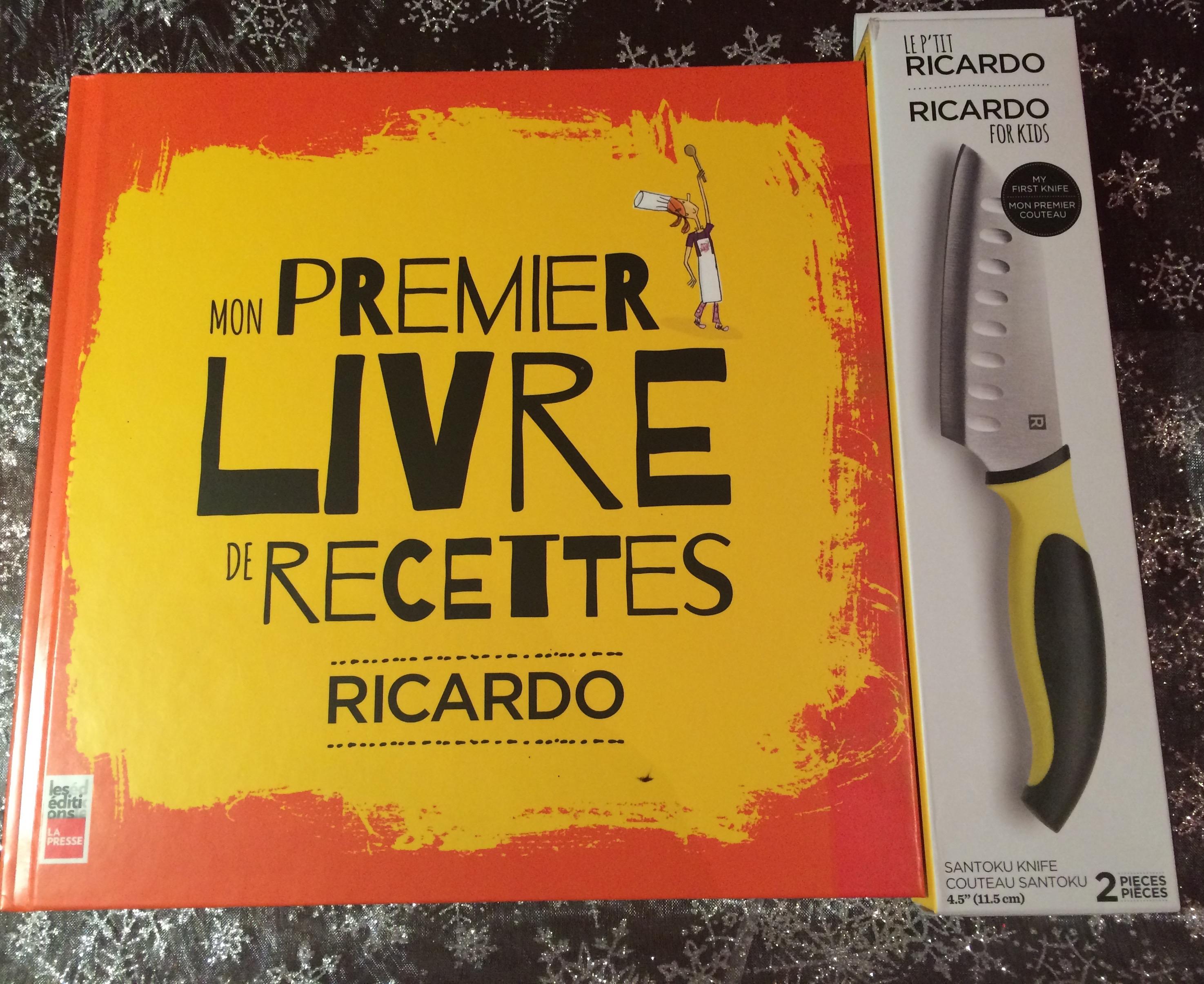 Mon premier Livre de Recettes « de Ricardo, aux éditions La Presse est  offert avec le couteau santoku Le P\u0027tit Ricardo quelle bonne idée !