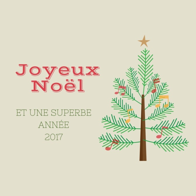Joyeux Noël et une superbe année 2017